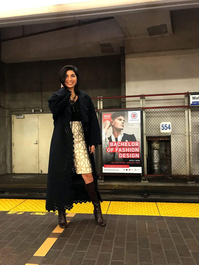طراحی شقایق تفرشی در مترو شهر ونکوور کانادا