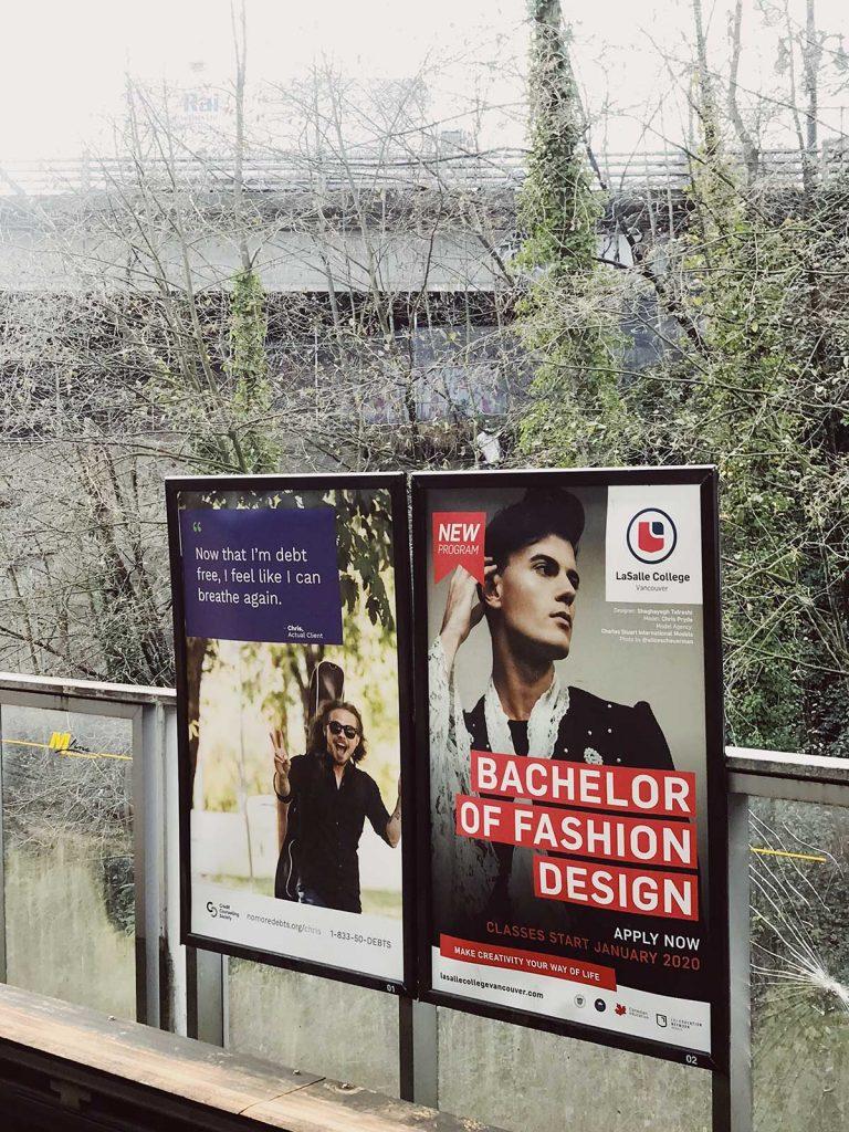 طراحی شقایق تفرشی در مترو ونکوور