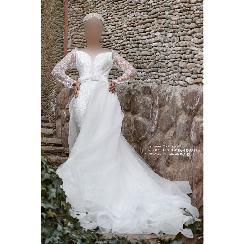 لباس عروسی- لباس عقد کد ۹۰۰۰